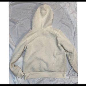 Kohl's Tops - Furry white hoodie
